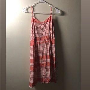 PEACH SPAGHETTI STRAP DRESS FIT & FLARE